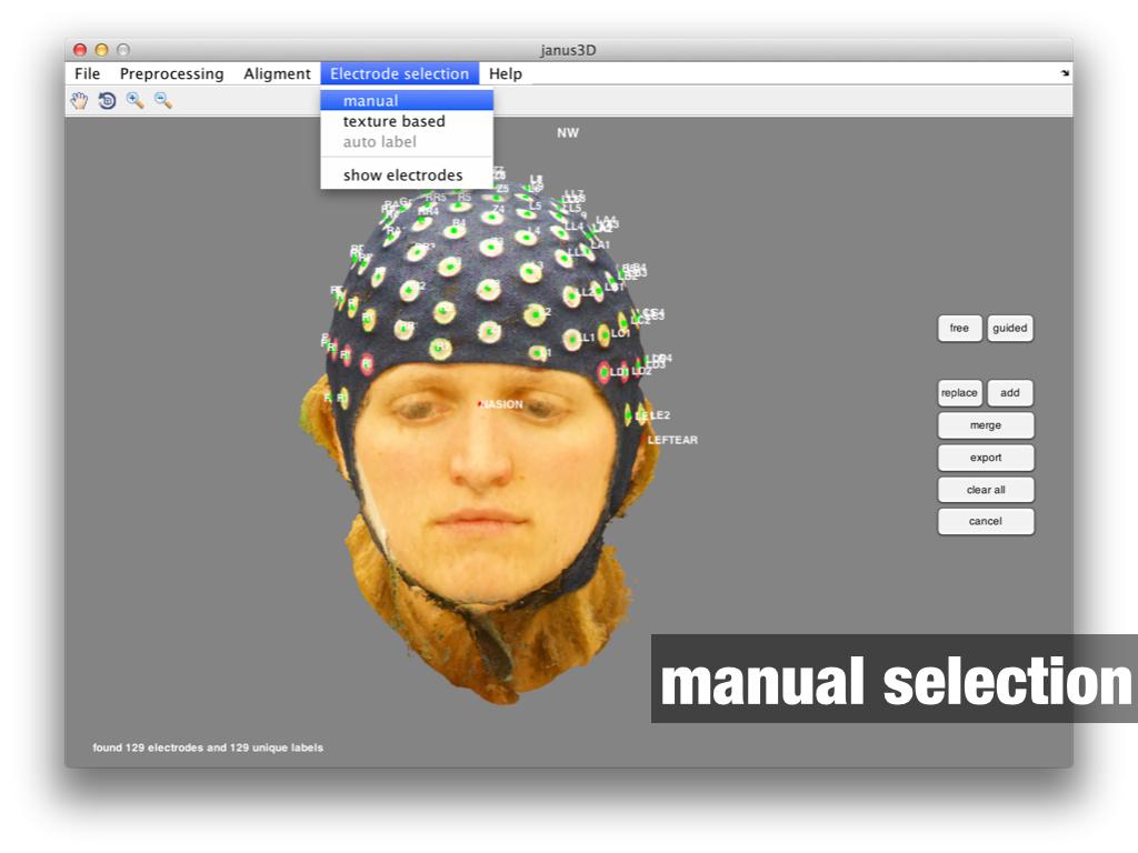 janus3D manual electrode selection