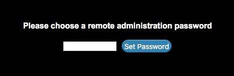 require a new administrator password