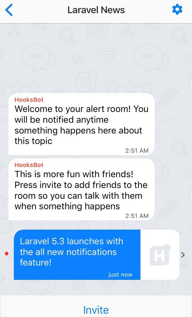 Laravel Hooks Notification Example