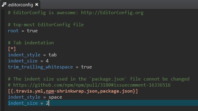 editorconfigsyntaxcoloringdark