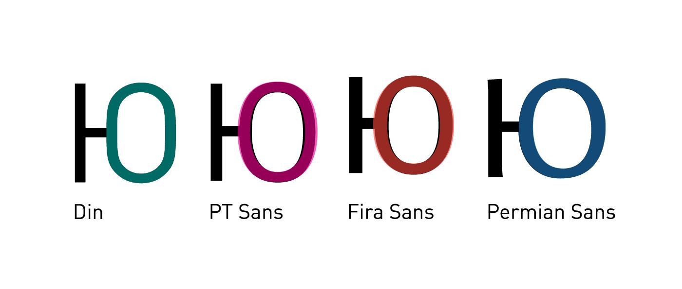 DIN, PT Sans, Fira Sans, Permian Sans