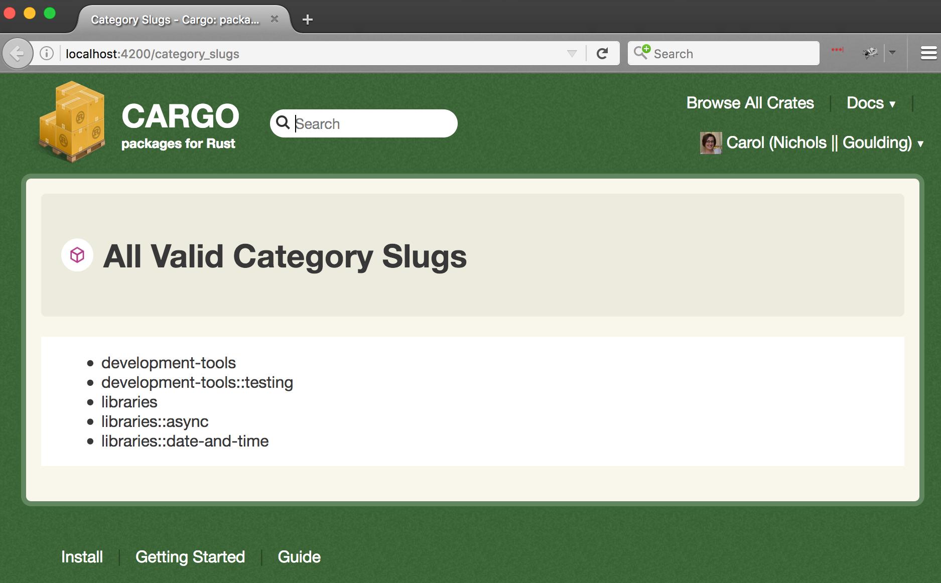 slugs-list-page