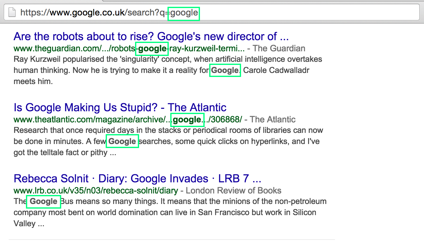 google-search-result-keyword-bold