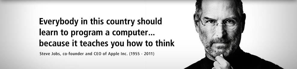 steve jobs learn how to code!