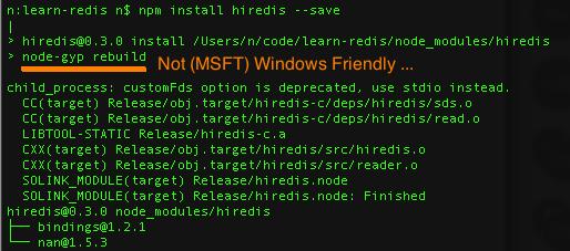 npm-install-hiredis
