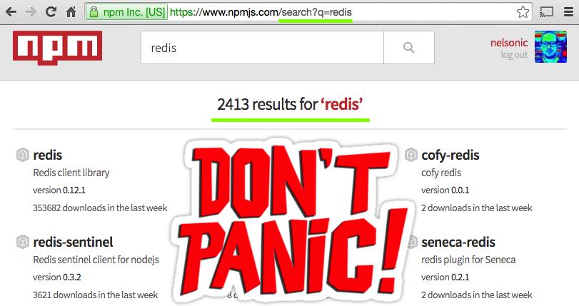npm-search-redis