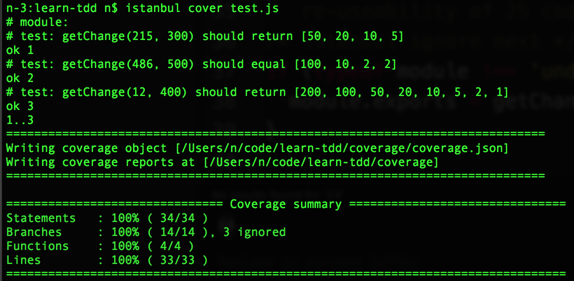 server-side-command-line-test-run-with-istanbul-100-percent-coverage