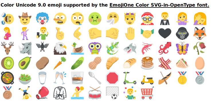Unicode 9.0 Emoji