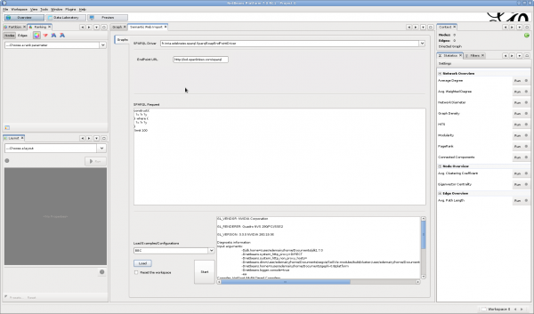 View of the SemanticWebPlugin after loading the BBC example