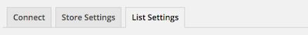 List Settings tab