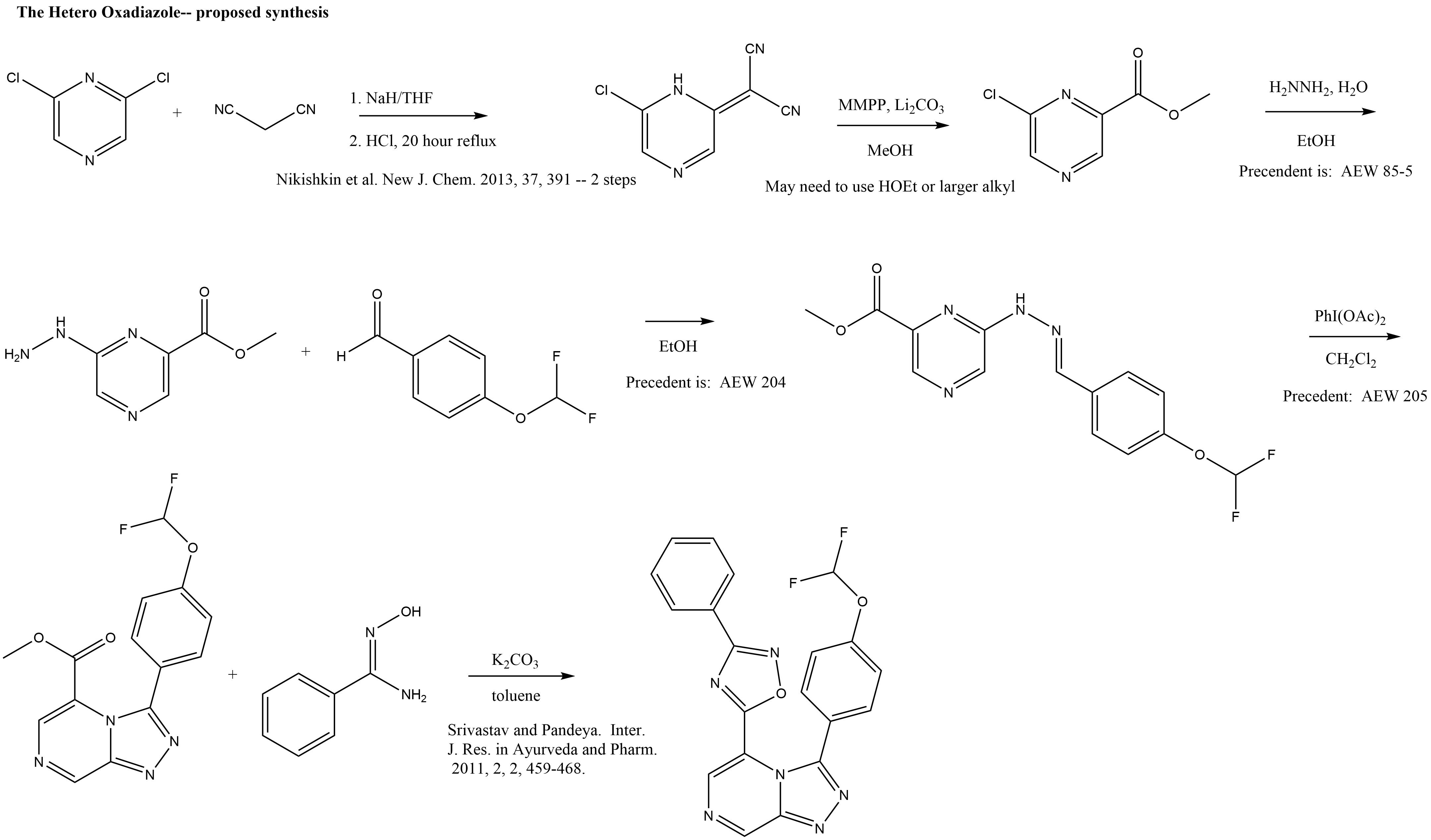 the hetero oxadiazole