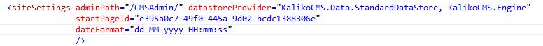 kaliko-web config