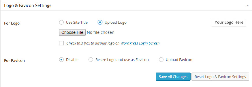 Choose File to Upload Logo