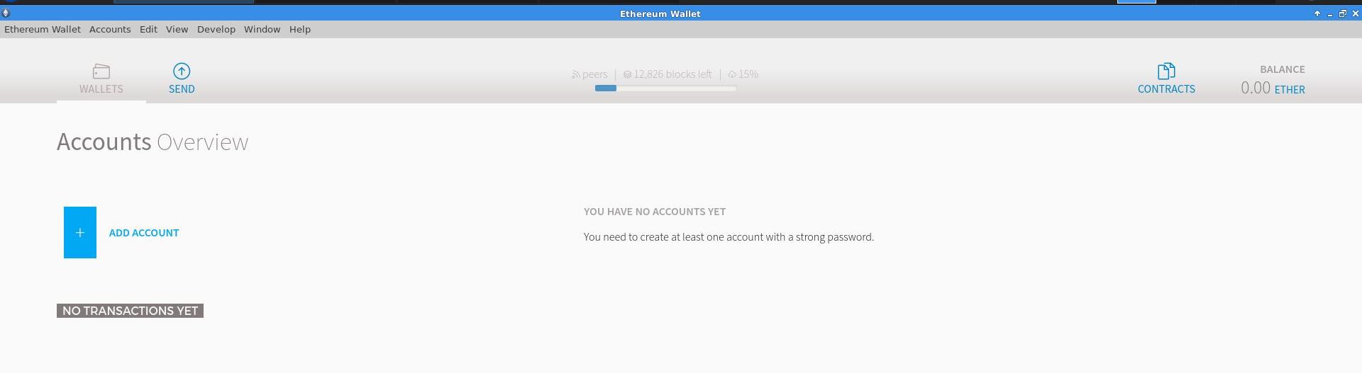 no accounts