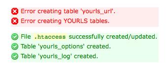yourls_create_tables_error