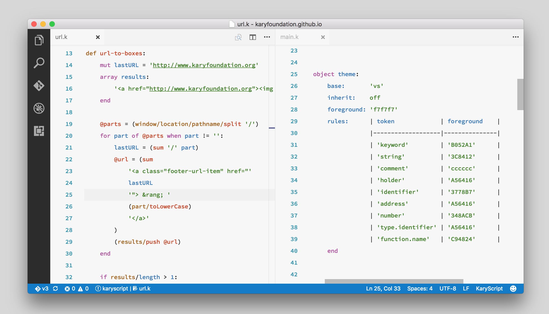 KaryScript Visual Studio Code