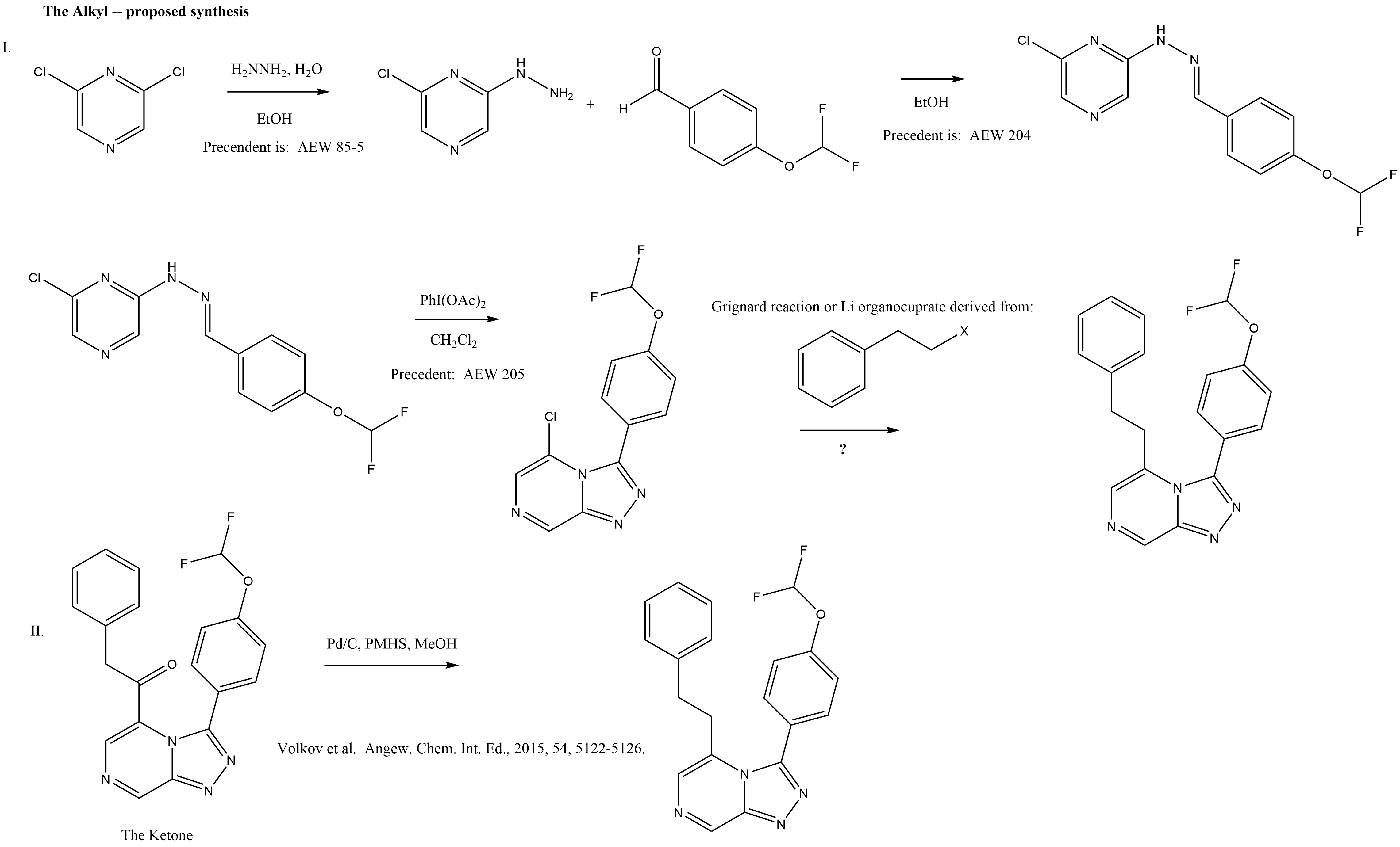 "Proposed synthesis of ""The Alkyl"""