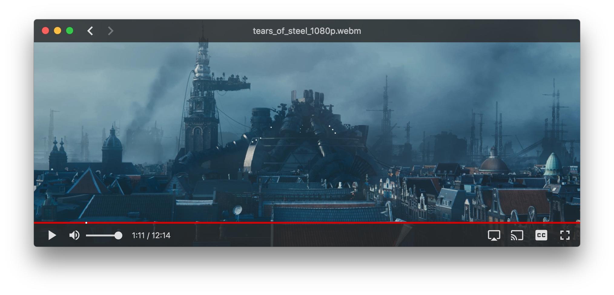 WebTorrent Desktop player window