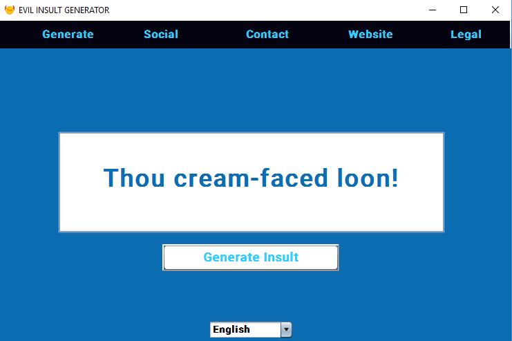 Evil Insult Generator Java Desktop App