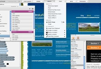 web designing dashboard