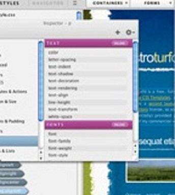 web-designer main menu