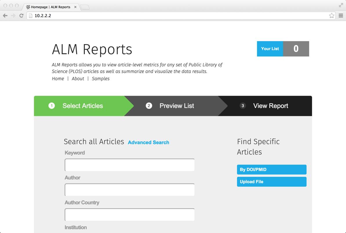 ALM Reports screenshot
