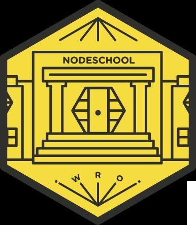 Oficjalne logo NodeSchool Wrocław