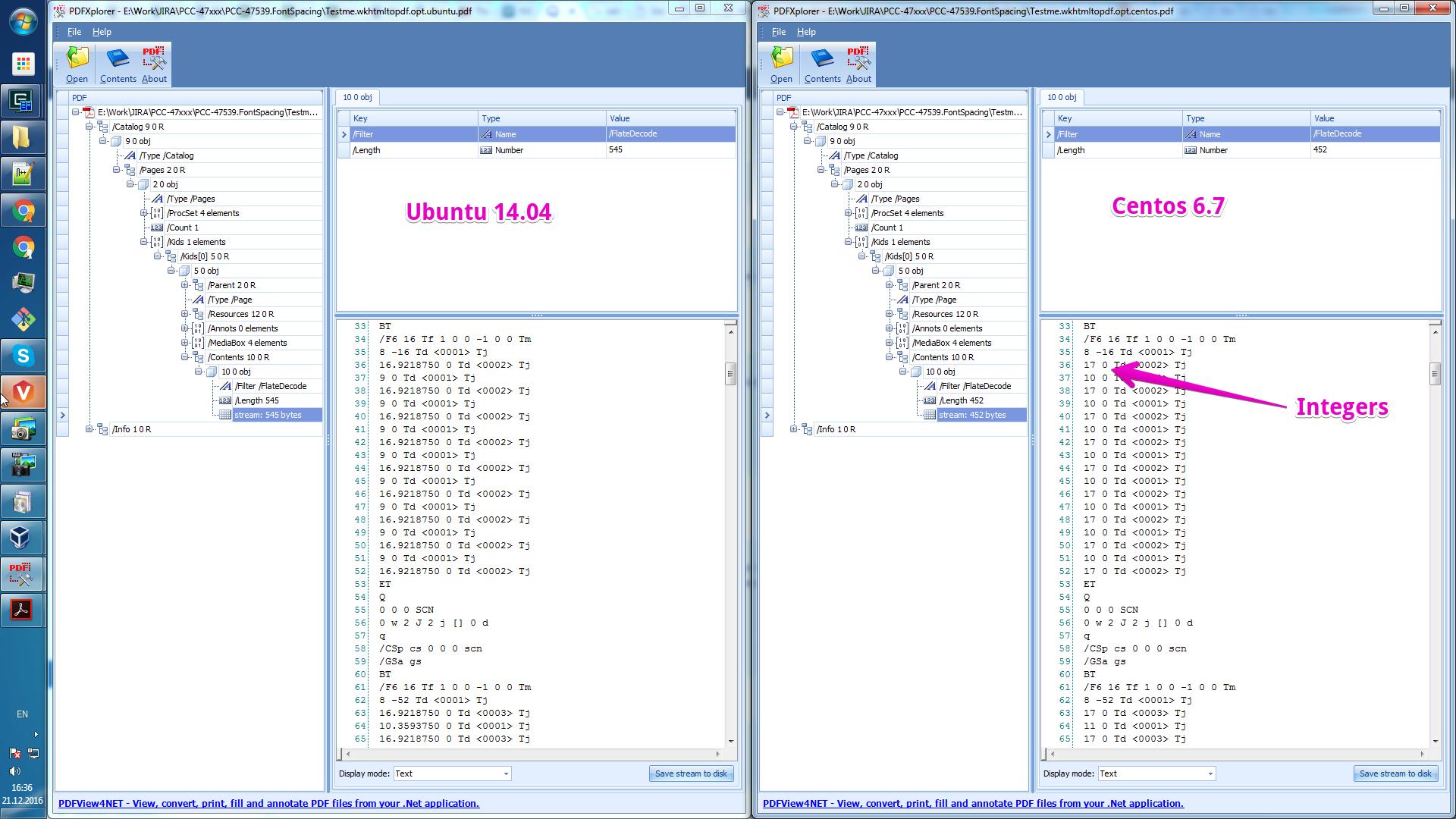 wkhtmltopdf ubuntu-vs-centos rounding