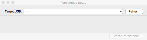 persistence setup window