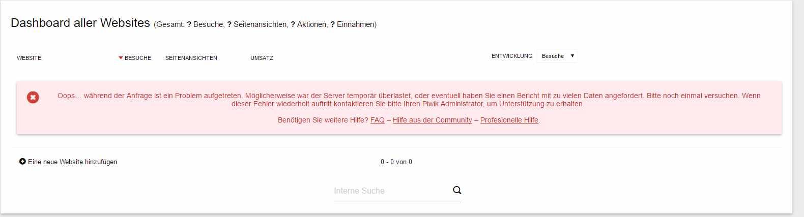 piwik-error