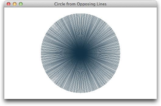 Circle from Opposing Lines