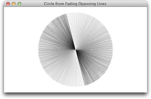 Circle from Fading Opposing Lines