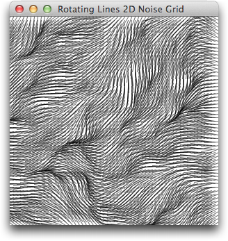 Rotating Lines 2D Noise Grid