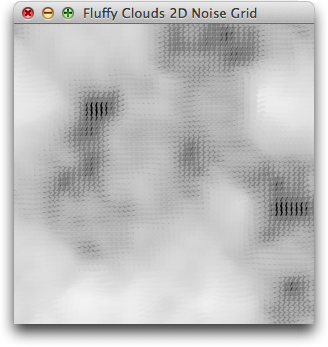 Fluffy Clouds 2D Noise Grid