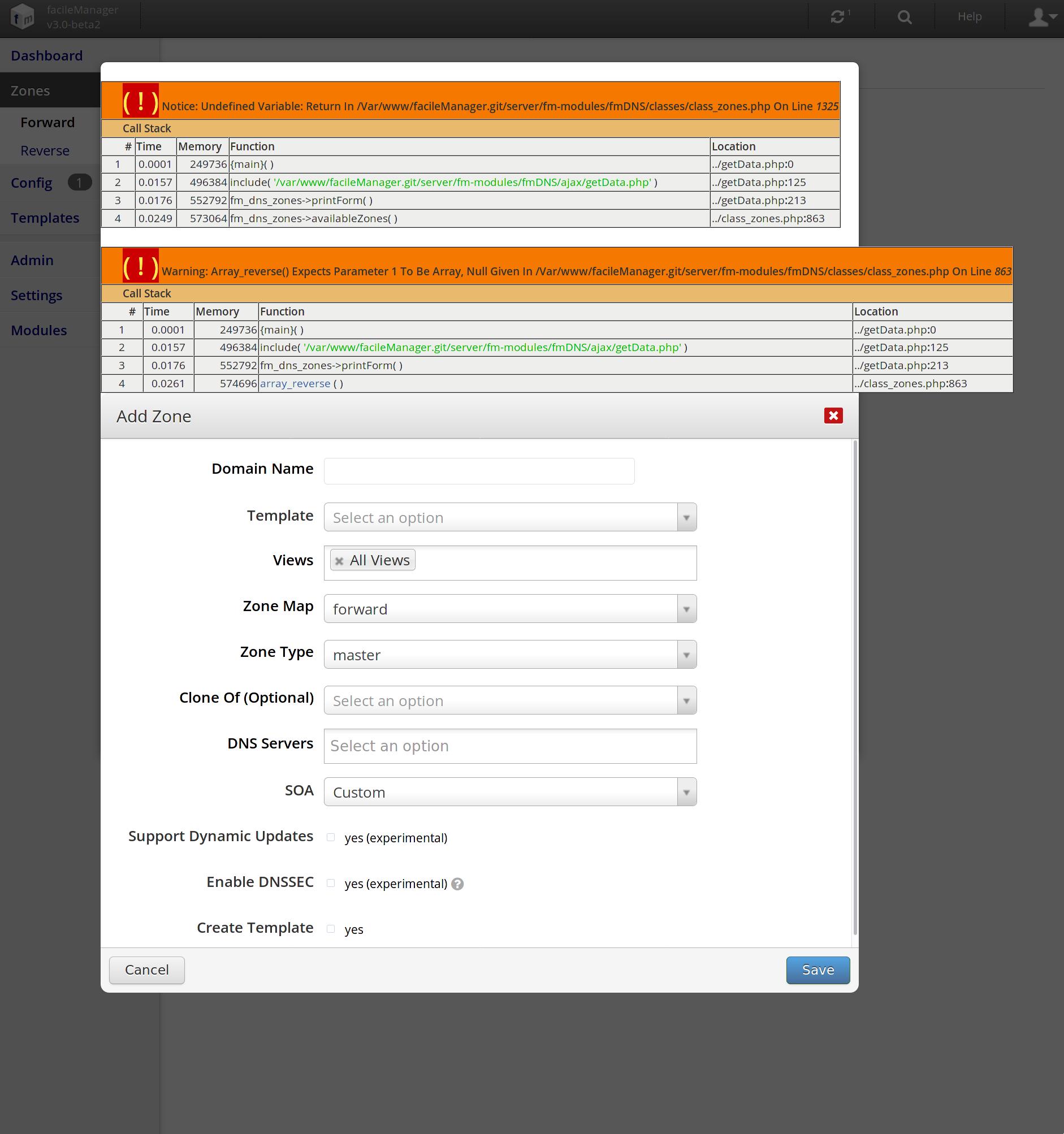 facilemanager_newzone_error