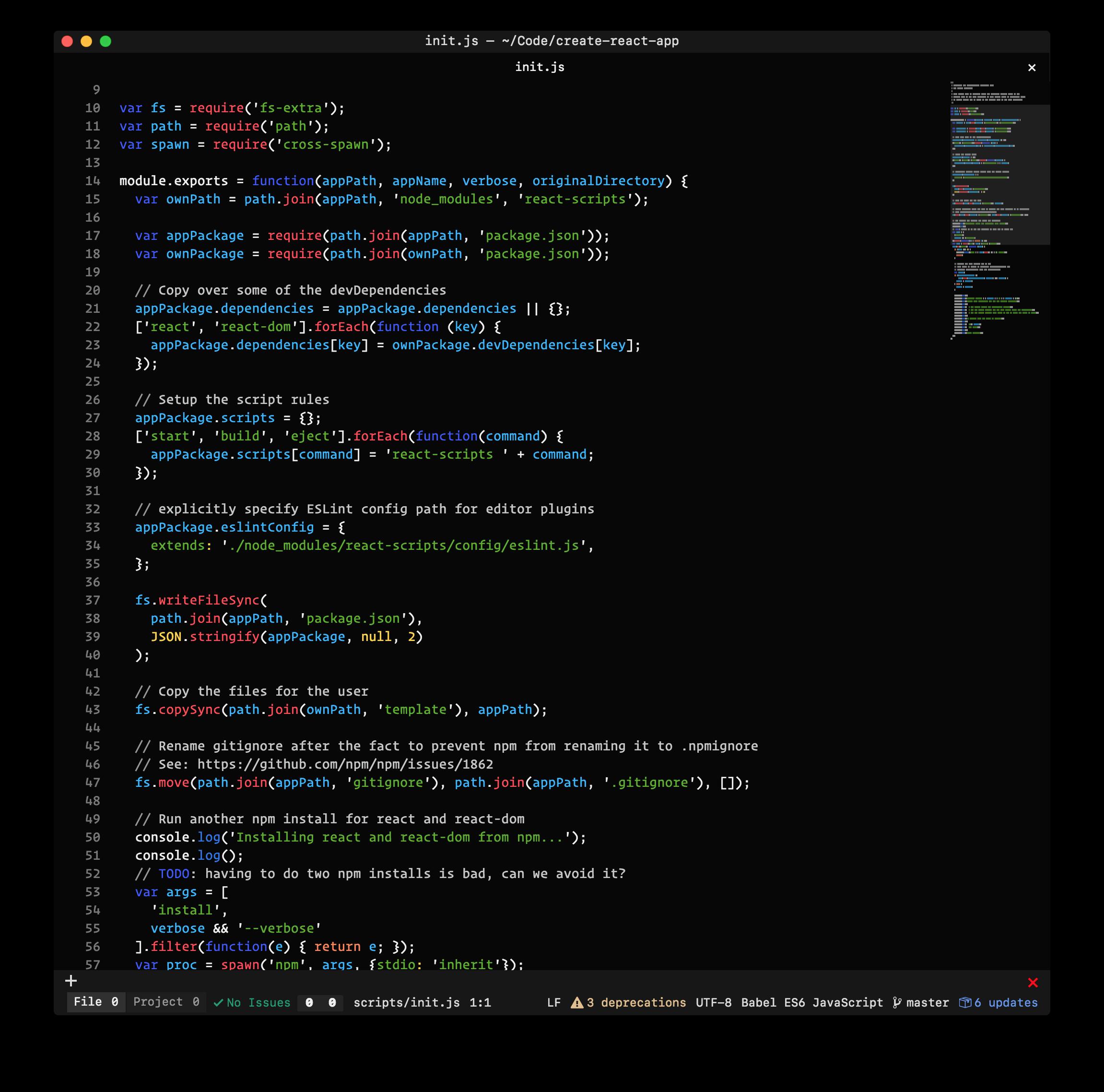 screenshot of dark bread-syntax