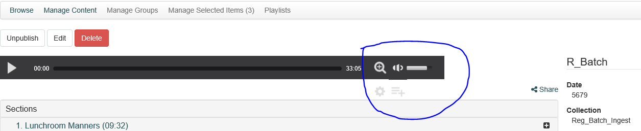 audio player hover in edge