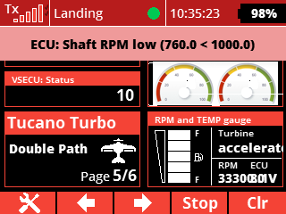 alarm shaft rpm low