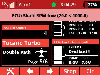 alarm - shaft rpm low