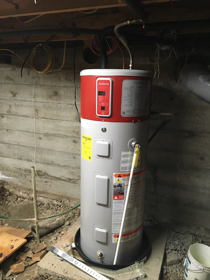 water heater front