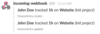 Slack message preview
