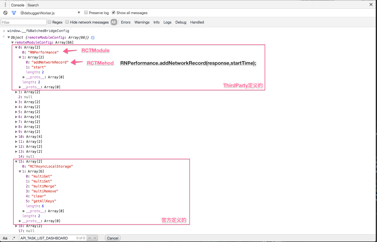 chrome 中的 window.__fbBatchedBridgeConfig