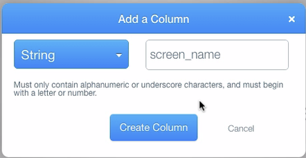 Create screen_name column