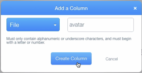 Create avatar column