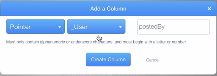 Add postedBy column