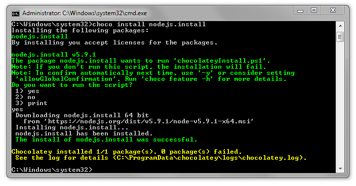 node-install-success