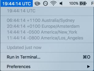 World Clock/BitBar