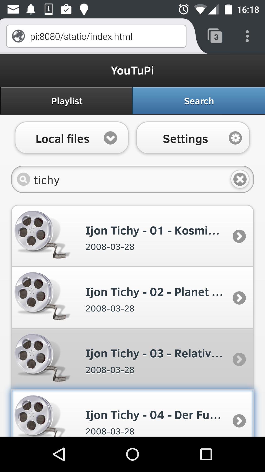Search Local Files