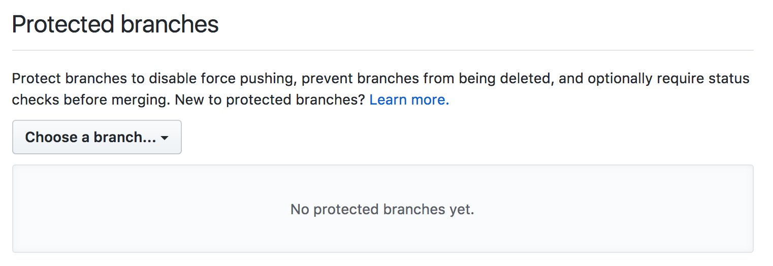 Protected branches