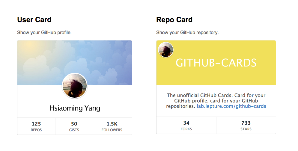 GitHub Cards Medium Theme